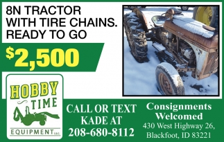 8N Tractor with tire chains