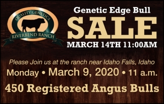 Genetic Edge Bull Sale