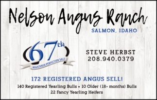 67th Registered Perfection Sale