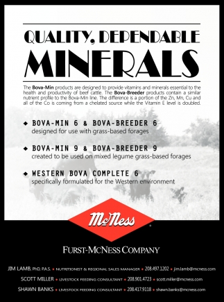 Quality, Dependable Minerals