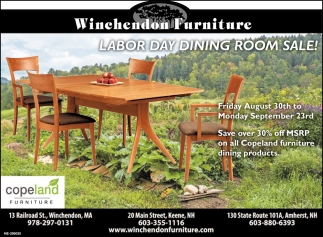 Labor Day Dining Room Sale Winchendon Furniture Keene Nh