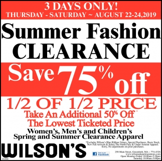 Summer Fashion Clearance