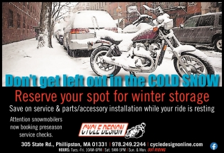 Reserve Your Spot for Winter Storage