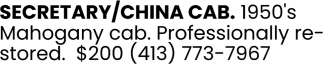 Secretary/China Cab