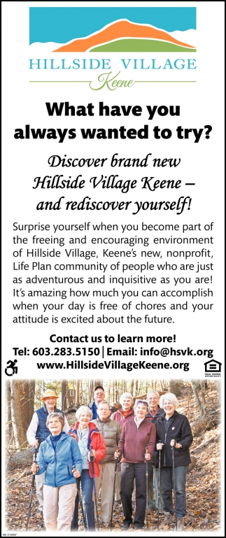 Discover Brand New Hillside Village Keene