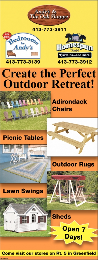 Create the Perfect Outdoor Retreat!