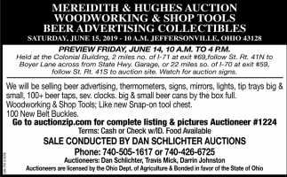 Meredith & Hughes Auction