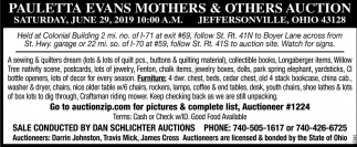 Pauletta Evans Mother's & Others auction
