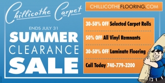 Ends July 31 ~ Summer Clearance Sale