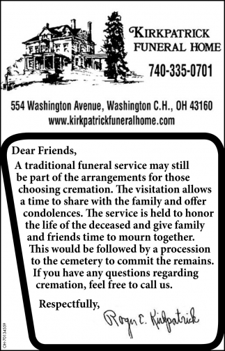 A traditional funeral service may still be part of the arrangements fot those choosing cremation