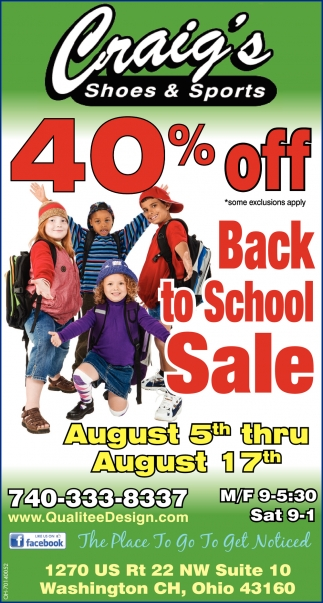 40% off - Back to School Sale