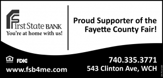 Proud Supporter of the Fayette County Fair!