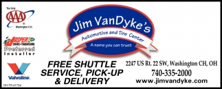 Free Shuttle Service, Pick-up & Delivery