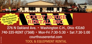 Tool & equipment rental