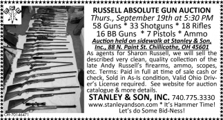 Russell Absolute Gun Auction - September 19th