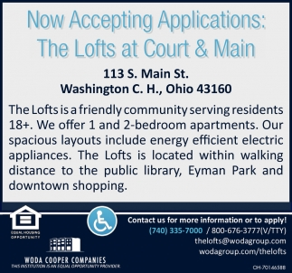 Now Taking Applications: The Lofts at Court & Main