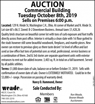 Auction Commercial Building - October 8th