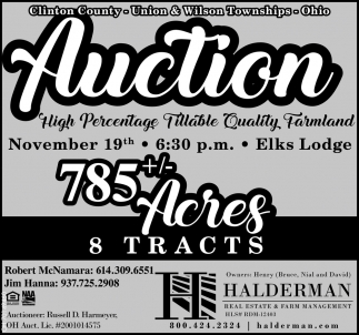 Auction - November 19th