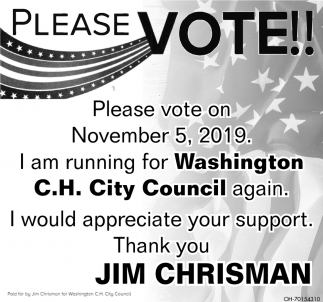 Jim Chrisman for Washington C.H. City Council