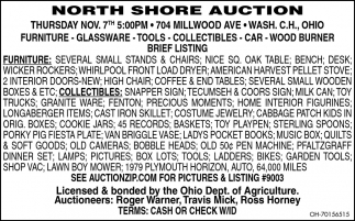 Auction - Nov. 7th