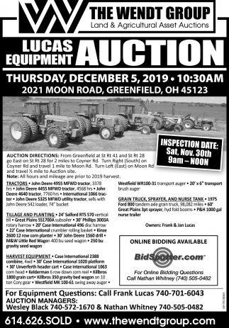Lucas Equipment Auction - December 5
