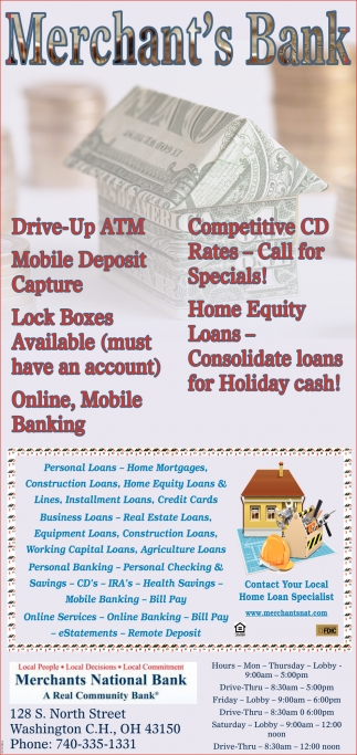 Drive-Up ATM - Competitive CD - Mobile Deposite Capture