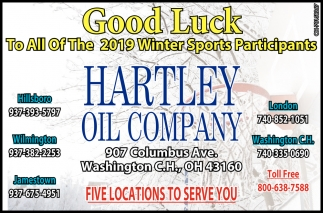 Good Luck To All Of The 2019 Winter Sports Participants