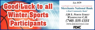 Good Luck to all Winter Sports Participants