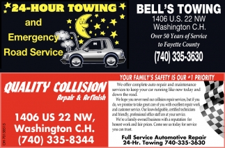24 hour towing | Full Service Automotive Repair