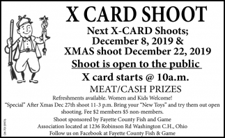 X Card Shoot