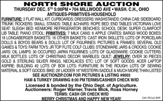Auction - Dec. 5th