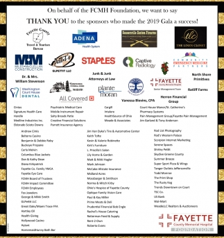 Thank You to the sponsors who made the 2019 Gala a success!