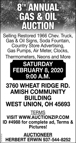 8th Annual Gas & Oil Auction