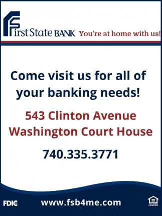 Come visit us for all of your banking needs!