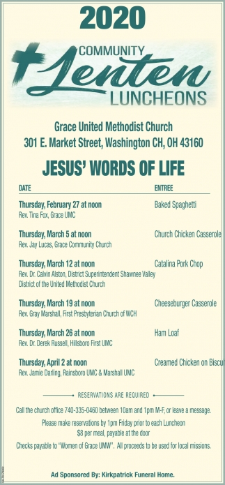 Community Lenten Luncheons