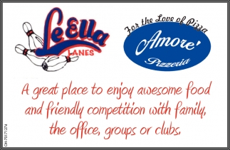 A great place to enjoy awesome food and friendly competition