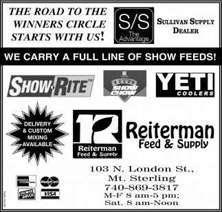 We carry a full line of show feeds!