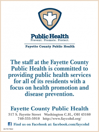 Public health services for all of its residents with a focus on health promotion and disease prevention