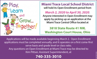 Open Enrollment - March 2 to April 30