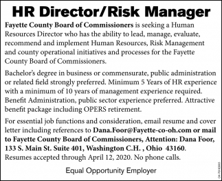 HR Director/Risk Manager