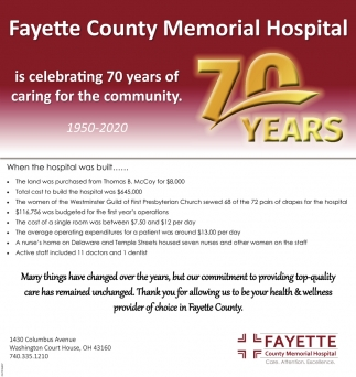 Celebrating 70 Years of Caring
