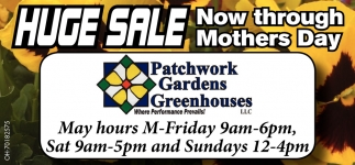 Huge Sale Now Through Mothers Day