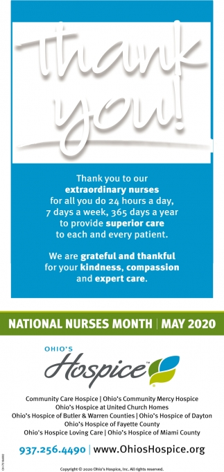 Thank You to Or Extraordinary Nurses