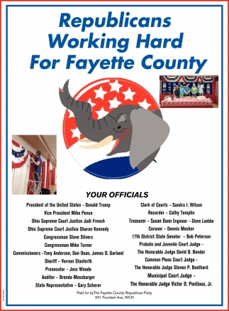 Republicans Working Hard For Fayette County