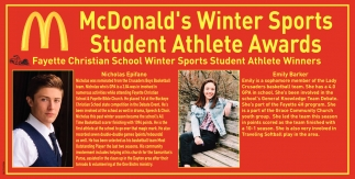 Winter Sport Student Athlete Award
