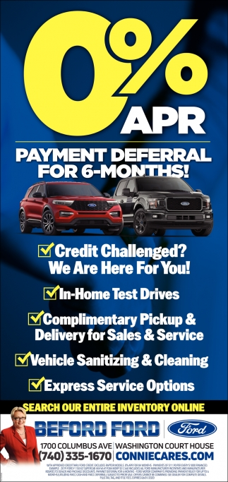 Payment Deferral for 6-Months!