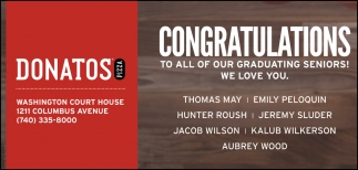 Congratulations to all of Our Graduating Seniors!