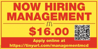 Now Hiring Management