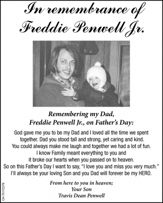 In Remembrance og Frddie Penwell Jr