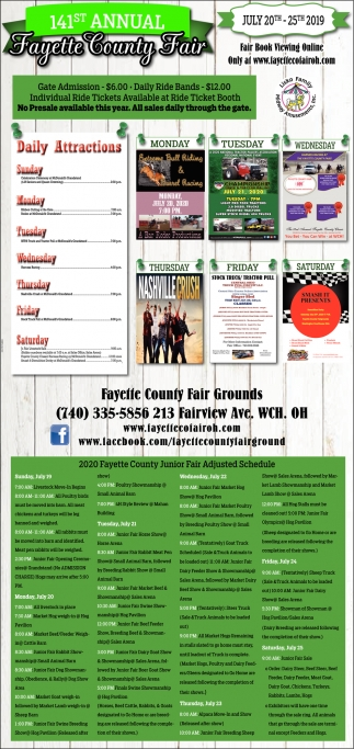 141st Annual Fayette County Fair